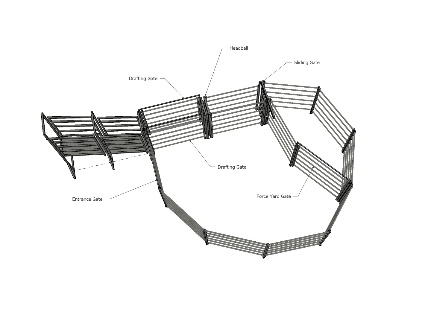 21 Head Cattle Yard With Loading Ramp